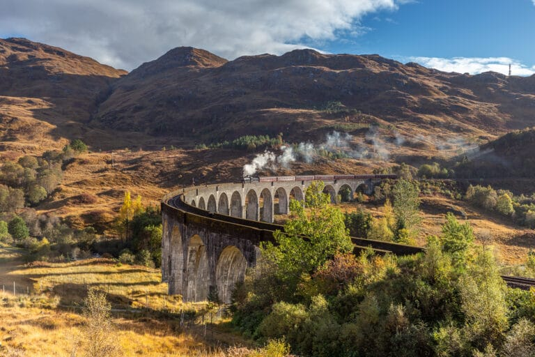 Jacobite steam train on Glenfinnan Viaduct 2