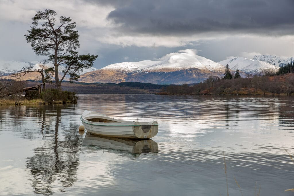 Nevis Range from Loch Lochy