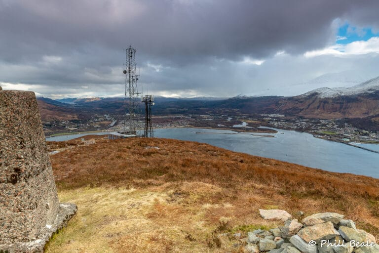 Radio mast overlooking Fort William