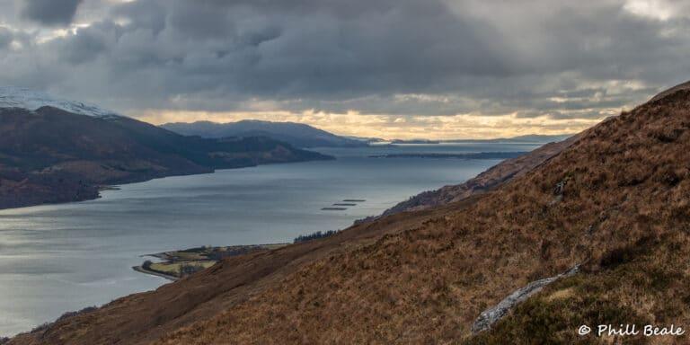 Looking down Loch Linnhe to Corran