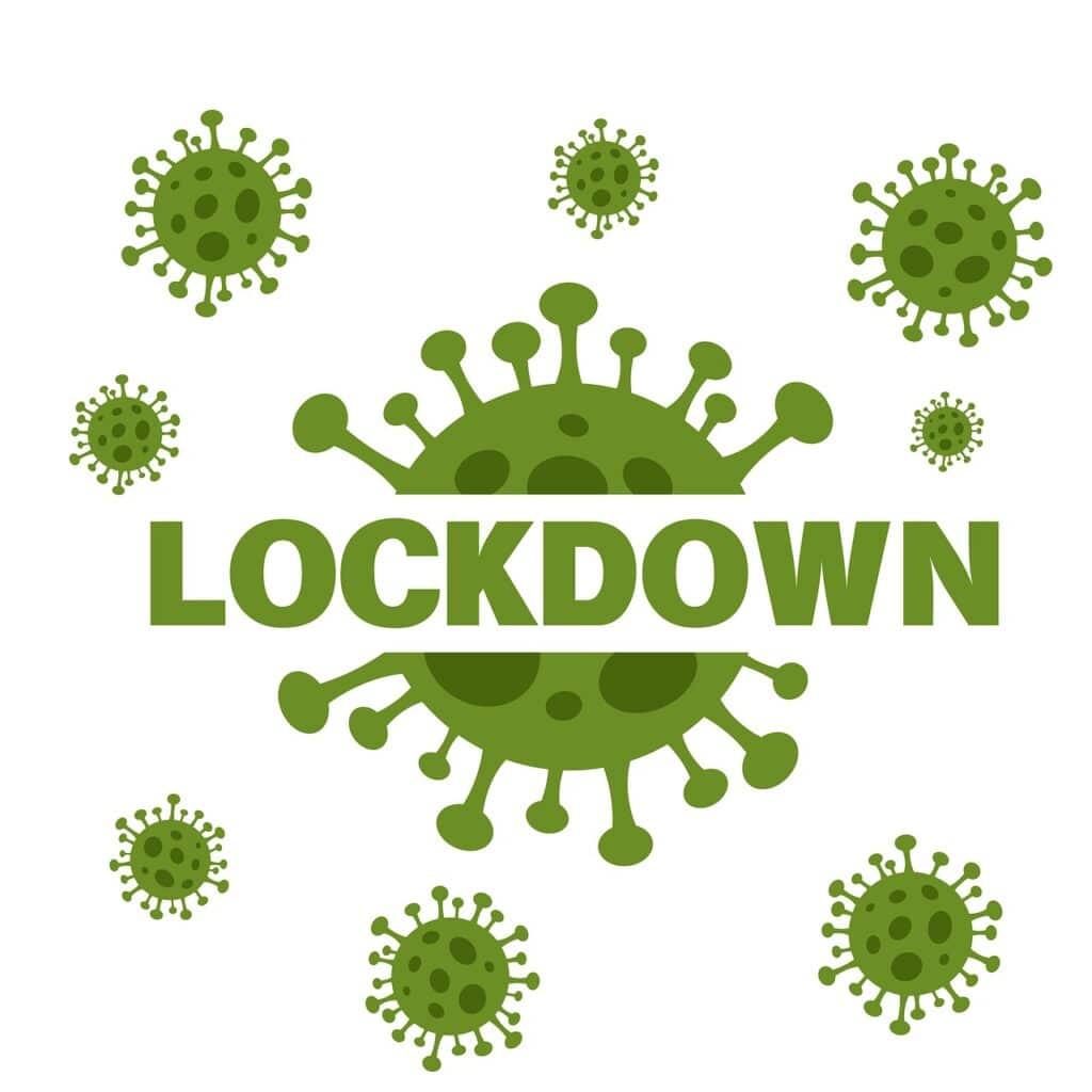 lockdown, covid-19, icon