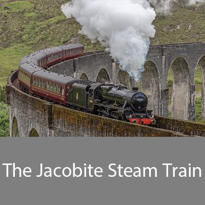 The Jacobite steam train runs from Fort William to Mallaig
